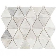 Highland Akoya Marble and Pearl Glass Tile - Waterjet - Stone Collections