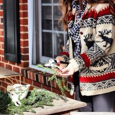 large knitted sweater