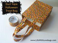 DIY - Duct Tape Halloween Treat Bag