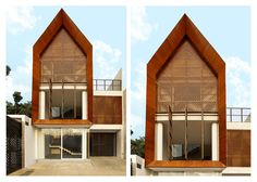H Mansion Jakarta, Indonesia using Conwood Plank & Sunshade to create stunning architectural facade