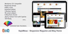 #RapidNews - #Responsive #Magazine #Theme - ThemeForest Item for Sale