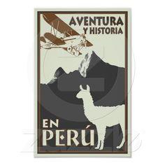Peru vintage poster