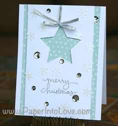 Stampin' Up Merry Christmas Shaker Star Handmade Card – Paper Into ...