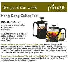 Today we're celebrating the Chinese New Year with a new recipe: Hong Kong- Style Coffee With Tea. #Yearofthehorse #PrimulaProducts #Recipe #Tea #Coffee