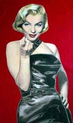 Vintage Steve Kaufman Post Card Marilyn