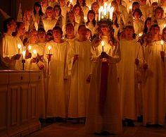 Lucia Day, and the Lucia maiden in Finland every 13th of December - Lucia-neito