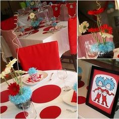 Dr. Suess Birthday --  I like the red and aqua