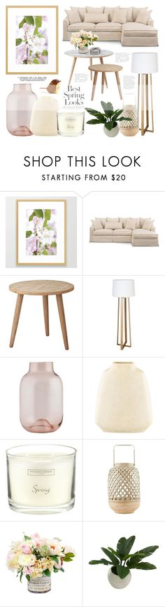 Living Room - Natural Wood And Pastels by by-jwp on Polyvore featuring interior, interiors, interior design, home, home decor, interior decorating, Lene Bjerre, House Doctor, Threshold and The White Company