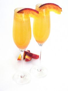 Fresh Peach Bellinis by Love And Bellinis
