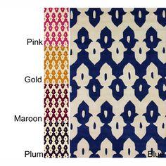 Handmade Modern Ikat Trellis Wool Rug