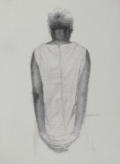 Mario Andres Robinson, Angel study (sketchbook). Graphite, 11 x 15 in.