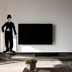 Charlie Chaplin wall sticker(decal)