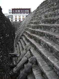 Old Aztec Ruins of Tenochtitlan - right in the middle of the hustle and bustle of Mexico city, its a huge site still studied by archaeologist - Been there !!!!