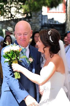 Love you dad ❤️ father of the Bride, Skiathos, Greece wedding