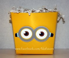 Minion Favor Box by KKsFavors on Etsy, $2.00