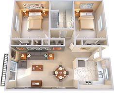 2 Bedroom House Plans, Sims House Plans, House Layout Plans, Modern House Plans, House Layouts, House Rooms, Loft House, Sims 4 Houses Layout, Tiny Home Floor Plans