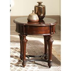 Shop for Liberty Furniture Round End Table, and other Living Room End Tables at Fitzgerald Home Furnishings in Frederick, MD. Cherry End Tables, Round End Tables, Round Chair, Side Tables, Large Furniture, Furniture Deals, Living Room Furniture, Online Furniture, Timber Furniture