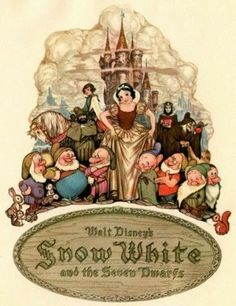 Walt Disney,,Snow White And The Seven Dwarfs Walt Disney Animation, Disney Pixar, Art Disney, Film Disney, Disney Love, Disney Magic, Disney Collectibles, Disney Viejo, Snow White 7 Dwarfs