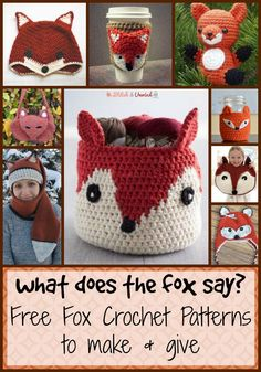 What Does the Fox Say? 18 Free Fox Patterns to Knit and Crochet