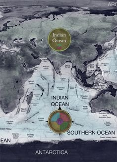 Indian Ocean map