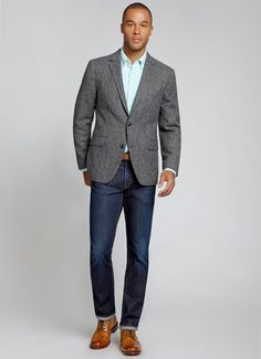 mens fashion jeans grey sport coat - Google Search
