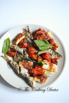 Grilled Sardines with Halloumi, basil and Cherry Tomatoes. This is a healthy treat and can even be made on weeknight dinner!