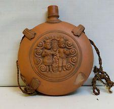 Portuguese Terracotta Pilgrim Bottle