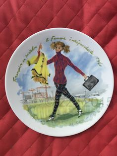 Françoise 1960 Women of the Century Plate Limoges France - pinned by pin4etsy.com