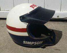 Vintage-Simpson-LIKE-BELL-MOTO-3-Motorcycle-MX-MOTOCROSS-RACING-Helmet-AHRMA