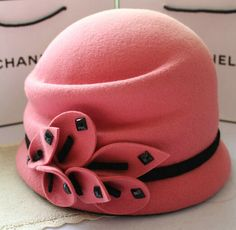 English Tea Party Hats | British vintage hat small fragrant wind pure wool hat Korean winter ...