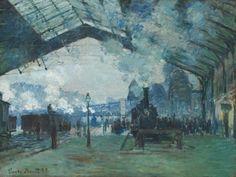 Claude Monet - Saint-Lazare Gare, Normandy Train – 1887