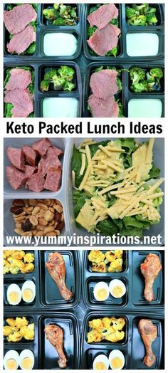 Keto Packed Lunch Ideas - low carb, ketogenic diet friendly ideas for lunch boxes and snacks on the go.