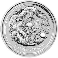 2012 series 2 - Australian Silver Lunar Dragon Bullion Coin