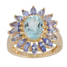 Sky Blue Topaz Tanzanite Ring in 925 Sterling by ArihantJewelry