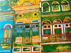 Cidade Maurícia - Litogravura por Lais Castro.