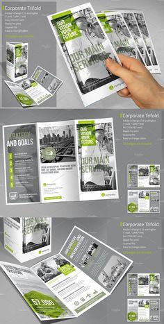 Corporate Tri-fold Template PDF, INDD