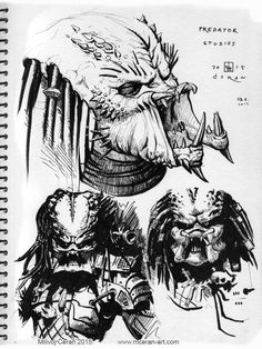 Predator studies Comic Art