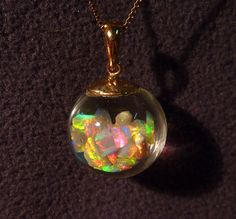 Floating Opals Necklace 6 Carats Absolute Best von PlanetOpal, $295.00 #opalsaustralia