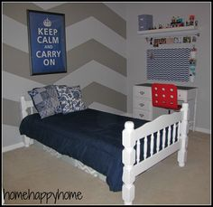 Bedroom: Terrific Single Bunk Bed With Americana Decorating Wall Ideas Also Cute Bear Doll. Teenage Girl Bedroom, Teenage Girl Paint Bedroom...