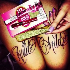 Wild Child Tattoo<3 420 Weed Joint Pink Beautiful Disaster