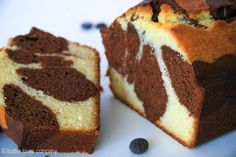 An easy recipe for chocolate marble loaf cake with crisped edges and a moist center - it is sturdy, perfectly dense and lightly sweet. Easy Loaf Cake Recipe, Pound Cake Recipes, Pound Cakes, Marble Cake Recipes, Dessert Recipes, Chocolate Flavors, Chocolate Recipes, Chocolates, Chocolate Marble Cake