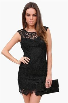 Starry Night Dress in Black