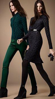 Silk Herringbone Print Dress | Burberry