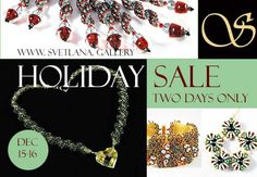 Handmade jewelry Holiday Sale - two days only! http://www.svetlana.gallery/product-category/women_jewelry/