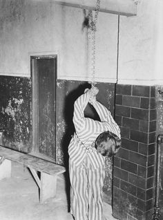 For punishment they would hang prisoners from their hands tired behind their backs. Causing many cases of dislocated shoulders.