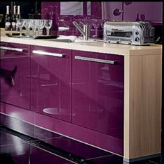 Fluidity Color Palette - Dewberry - I love the cabinets.