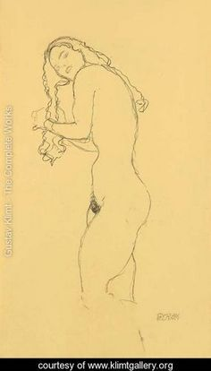 Gustav Klimt - his paintings are wonderful; but I truly prefer the simplicity of his sketches