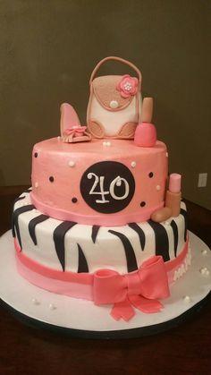 40th birthday cake. Adorable!! Deb's