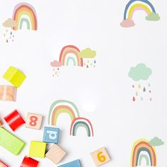 """Over The Rainbow"" Wall Decals - Modern"