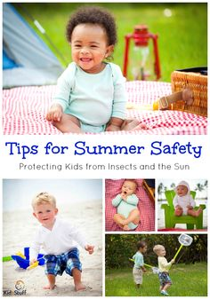 Tips for Summer Safety Protecting Kids from Insects and the Sun from @kidzstuffi